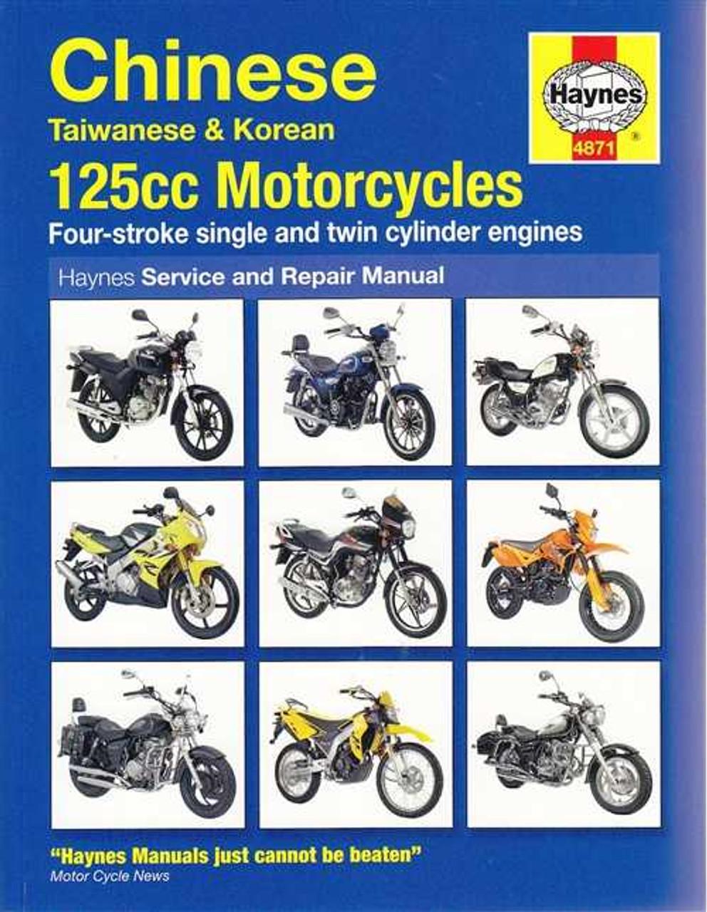chinese taiwanese and korean 125cc motorcycles workshop manual rh automotobookshop com au motorcycle workshop manuals free downloads motorcycle workshop manuals nz