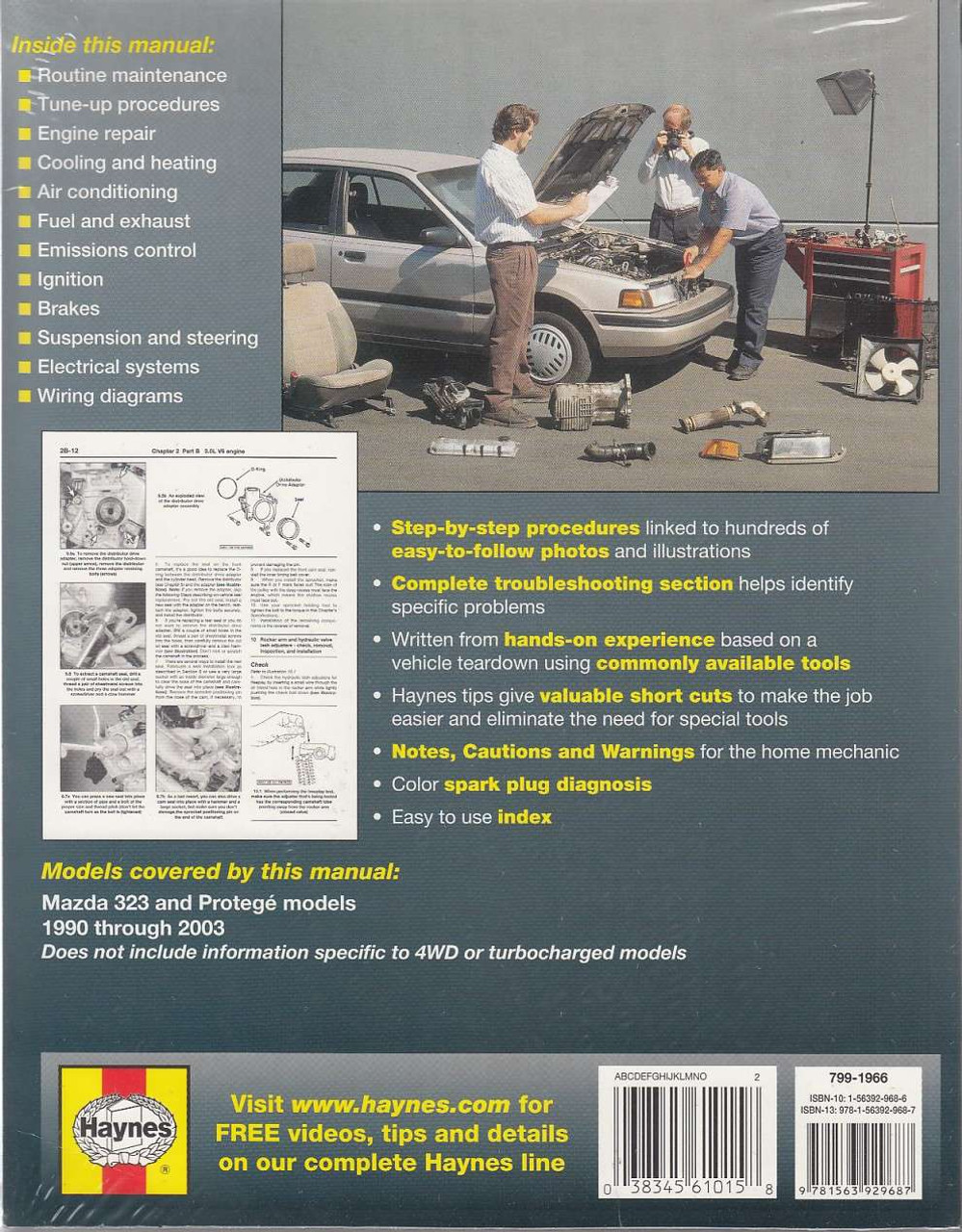 Mazda 323 And Protege 1990 2003 Workshop Manual 1993 Rx 7 Wiring Schematic Back
