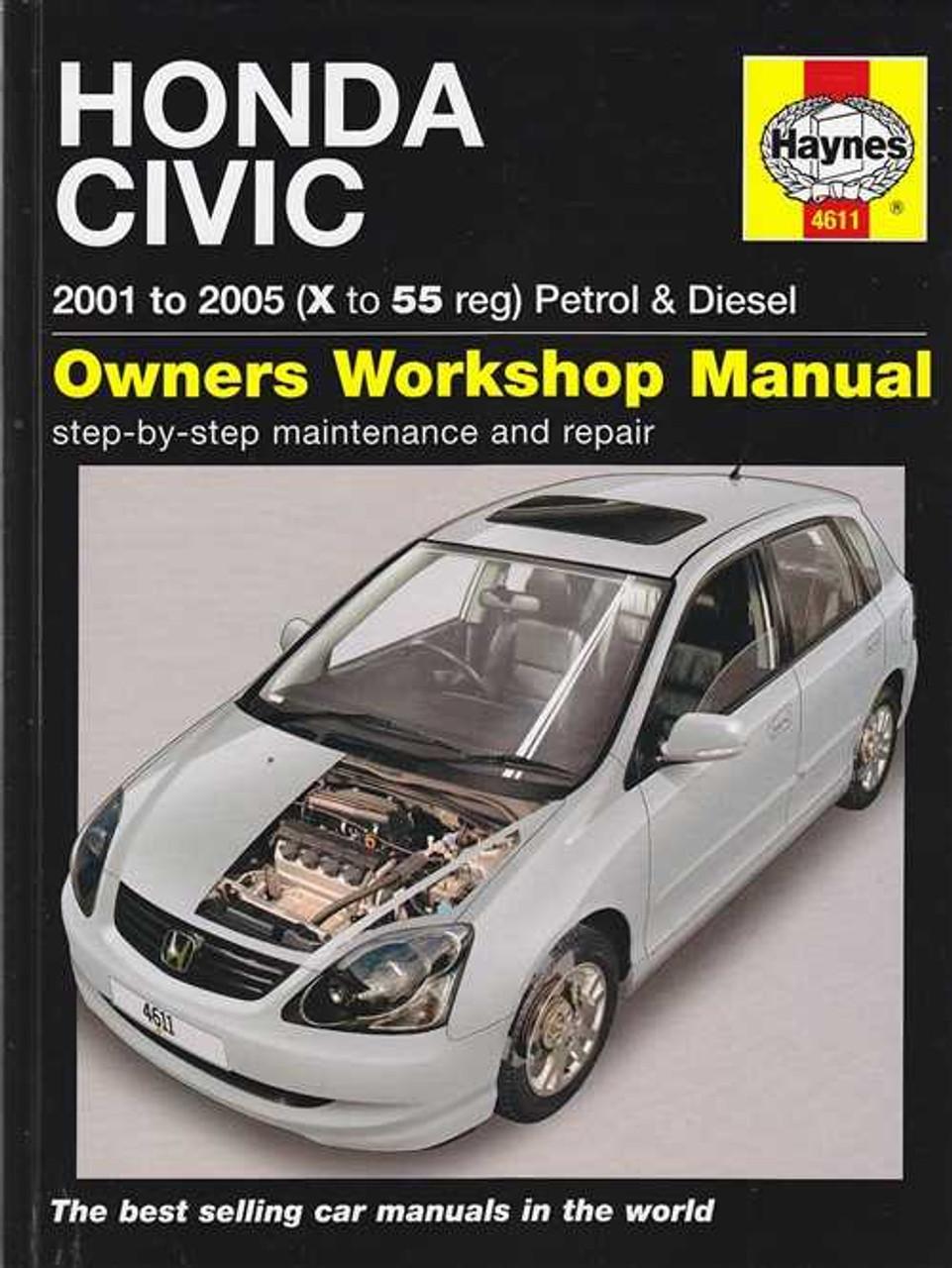 honda civic petrol and diesel 2001 2005 workshop manual rh automotobookshop com au 2002 Honda Civic LX 2002 Honda Civic LX