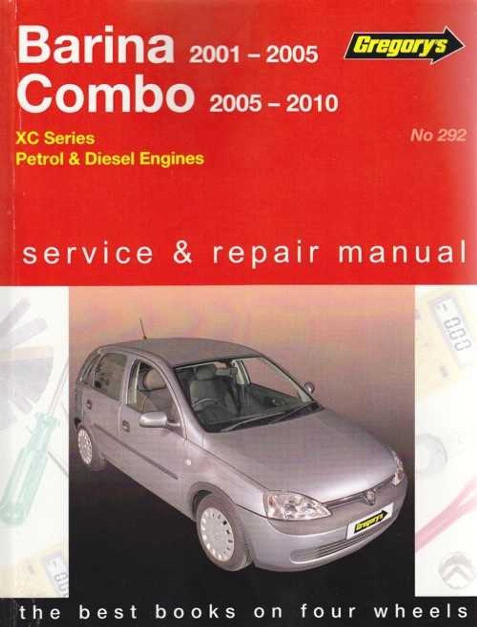 holden barina combo xc series petrol diesel 2001 2010 workshop rh automotobookshop com au White Holden Barina 1985 Holden Barina
