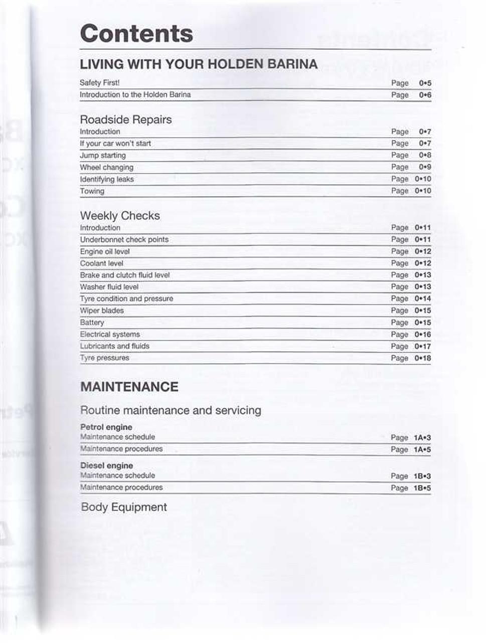 holden barina combo xc series petrol diesel 2001 2010 workshop rh automotobookshop com au New Opel Avto Opel