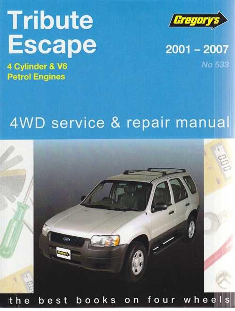 ford tribute and mazda escape petrol 2001 2007 workshop manual rh automotobookshop com au 2005 Ford Escape 2011 Ford Escape