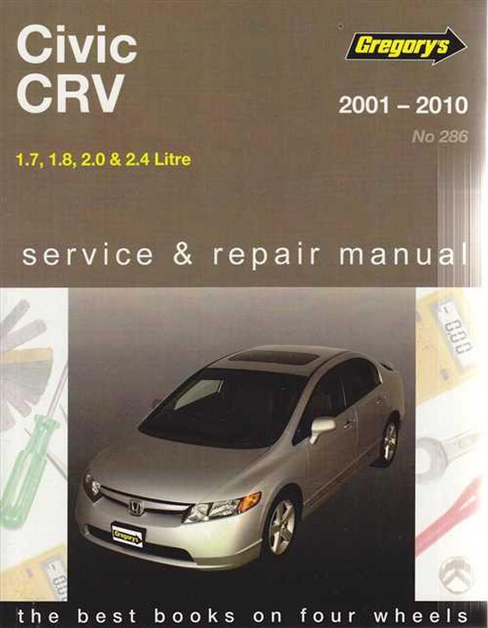 honda civic crv 1 7 1 8 2 0 2 4 litre 2001 2010 workshop manual rh automotobookshop com au 2000 honda crv service manual pdf 2001 honda crv workshop manual pdf