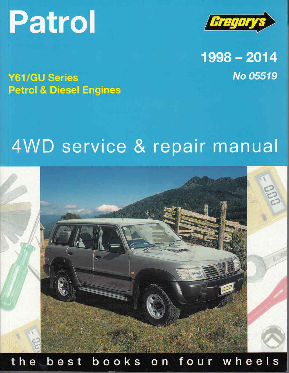 nissan patrol y61 guseries petrol diesel 1998 2014 workshop manua rh automotobookshop com au nissan patrol service manual gq patrol service manual - y60