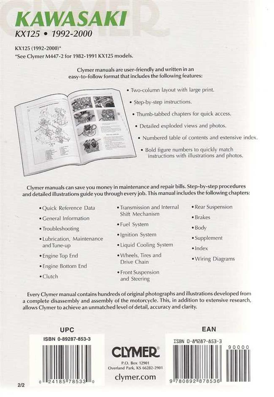 Kawasaki KX125 1992 - 2000 Workshop Manual