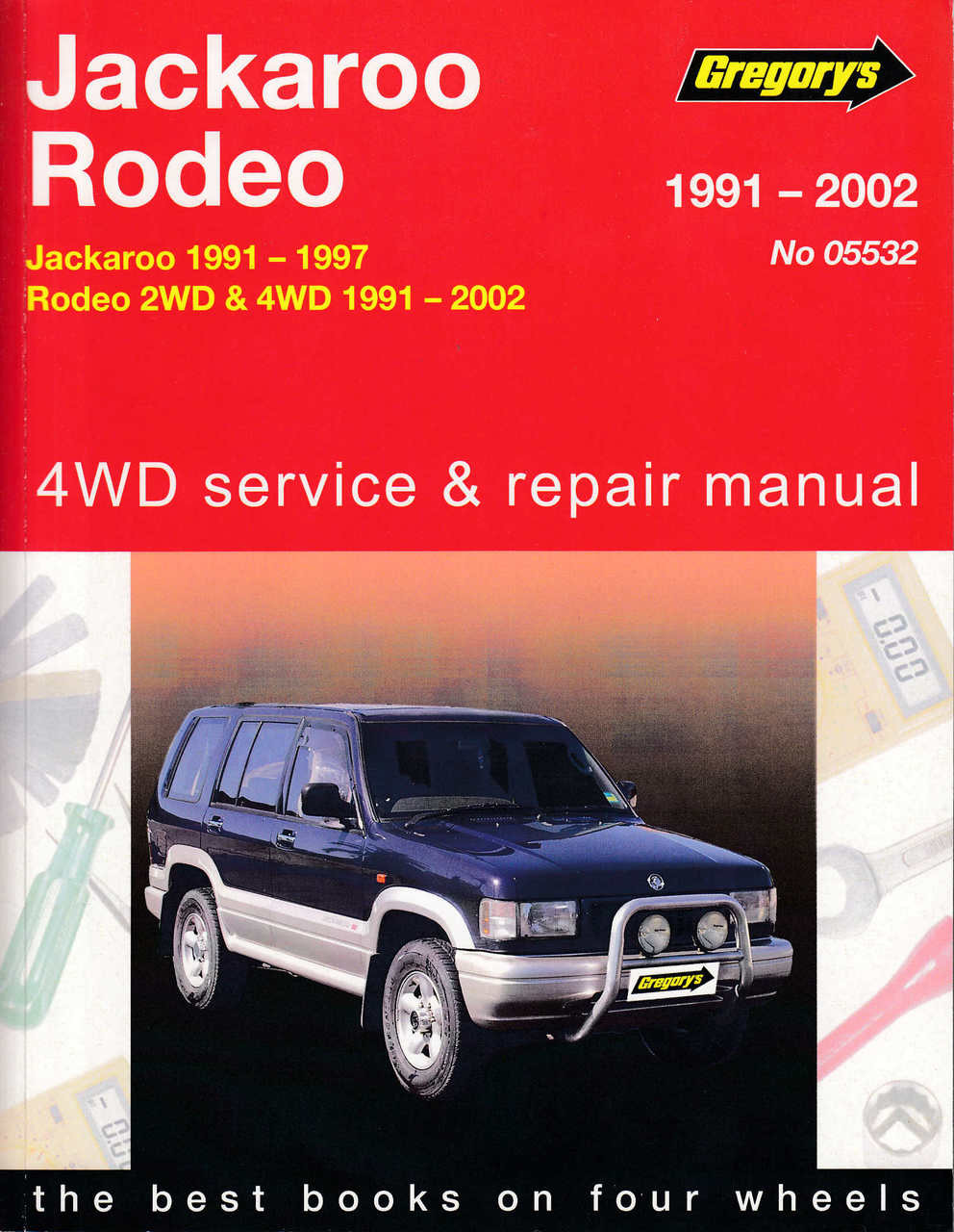 holden jackaroo and holden rodeo 1991 2002 workshop manual rh automotobookshop com au Holden Rodeo 2002 Holden Rodeo 4x4