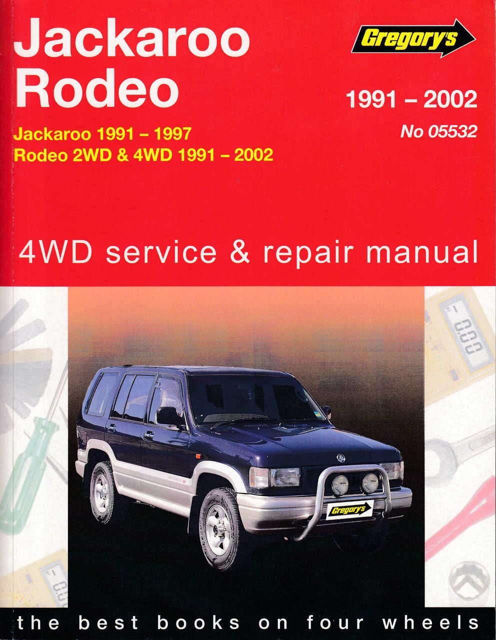 holden jackaroo and holden rodeo 1991 2002 workshop manual rh automotobookshop com au Holden Rodeo 4x4 1997 Holden Rodeo