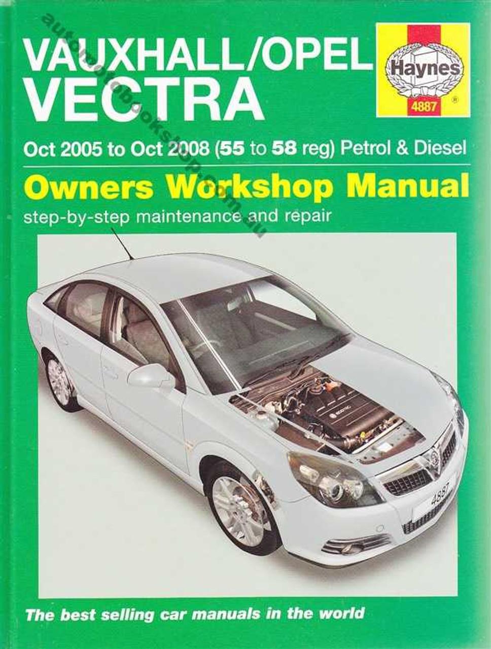 vauxhall vectra 2005 2008 workshop manual rh automotobookshop com au opel vectra workshop manual opel vectra repair manual