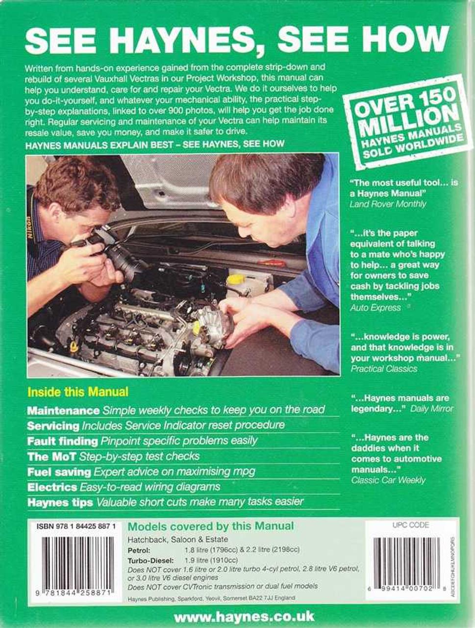 Holden vectra workshop manual