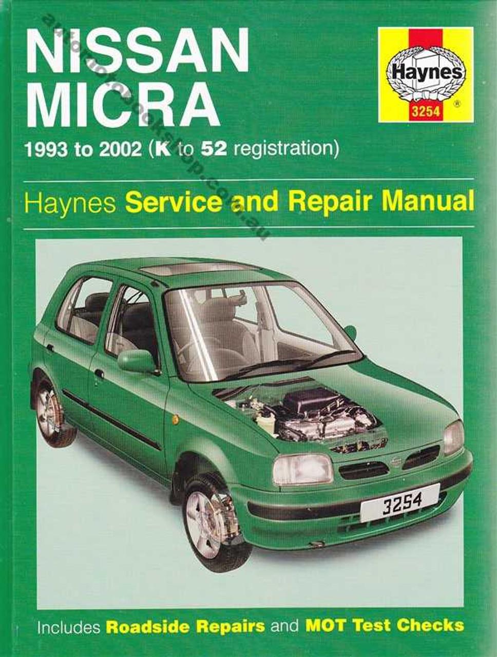 nissan micra 1993 2002 workshop manual rh automotobookshop com au Nissan Micra 2013 2007 Nissan Micra