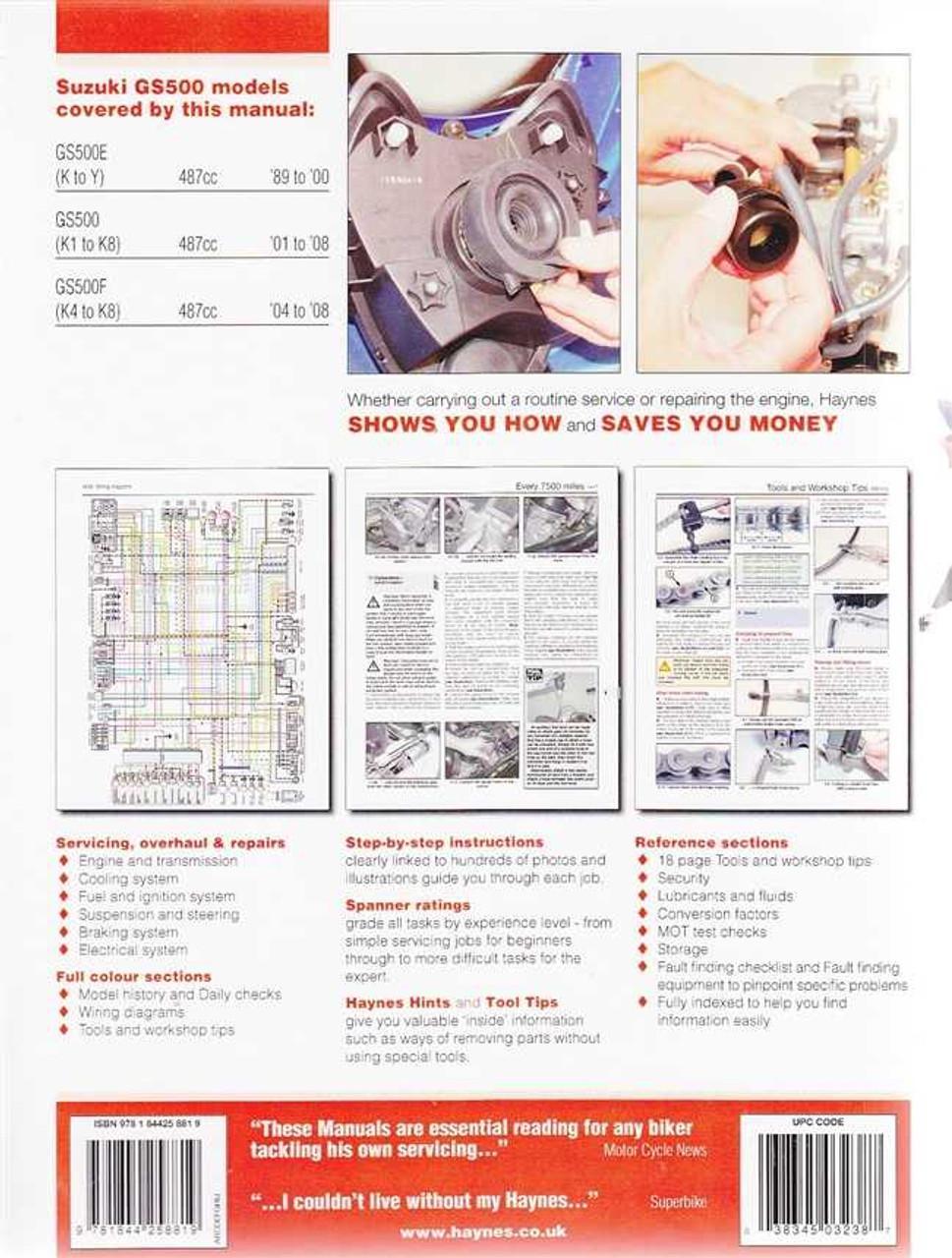 Suzuki gs500f wiring diagram   manual e-books.