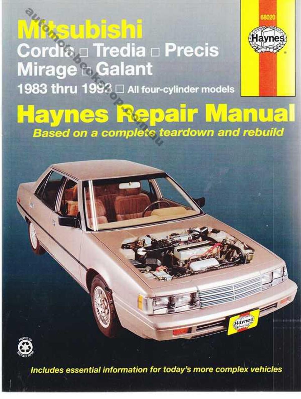 Mitsubishi Cordia Tredia Precis Mirage Galant 1983 1993