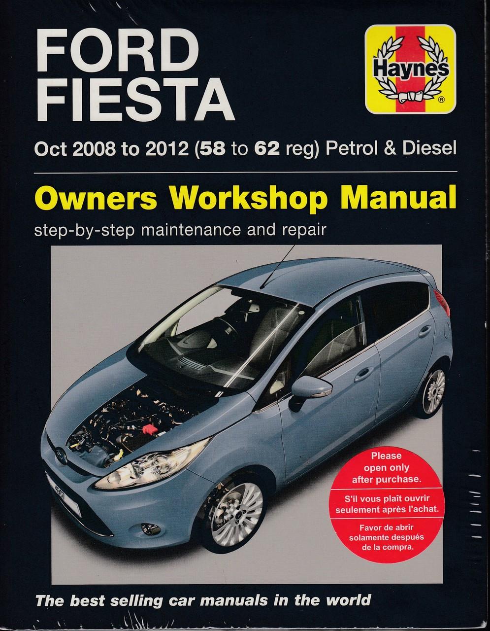 Ford Fiesta 1.25L, 1.4L, 1.6L Petrol & 1.4L, 1.6