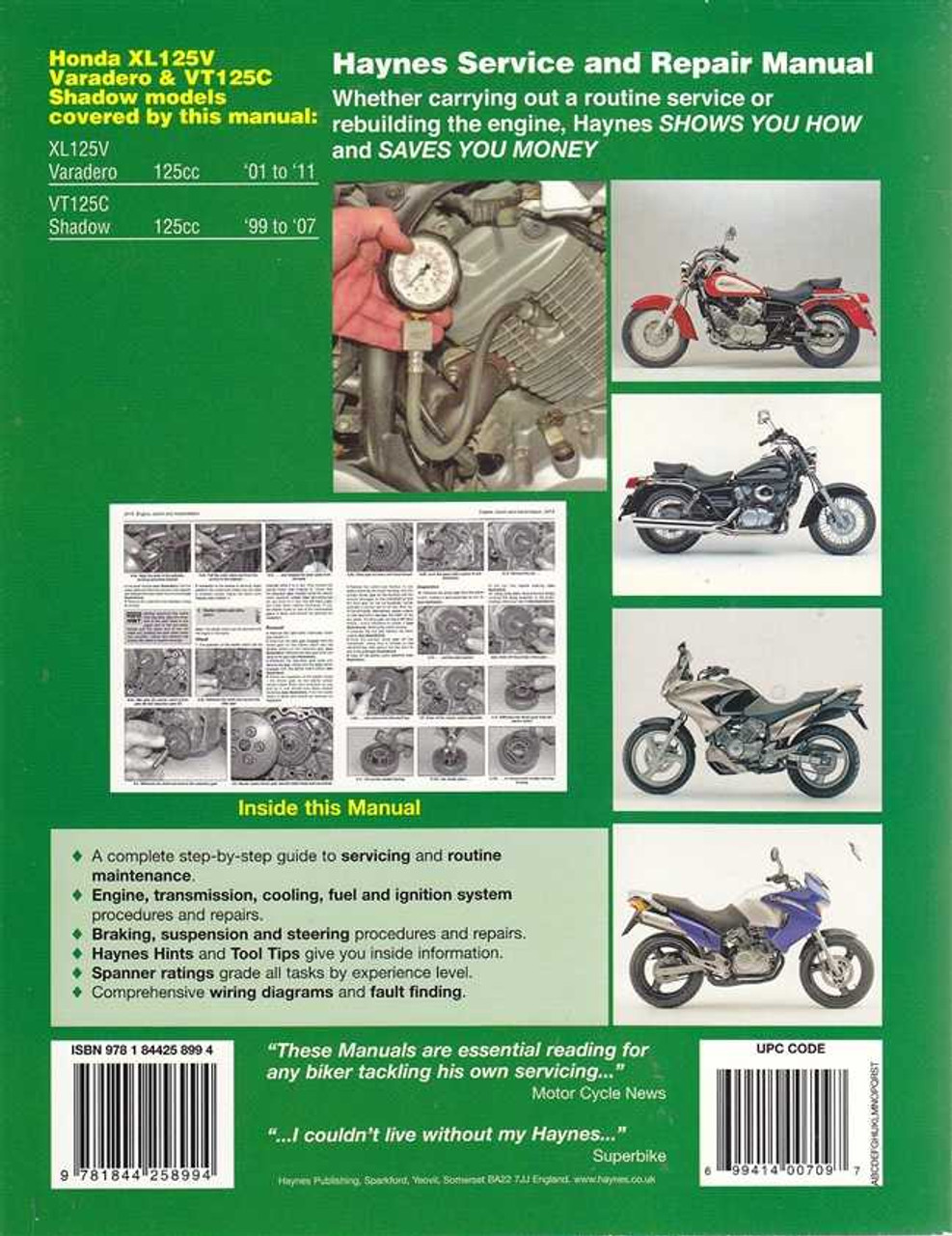 honda xl125v varadero vt125c shadow 1999 2011 workshop manual rh automotobookshop com au 1984 Honda 200s ATC honda vt 125 shadow user manual