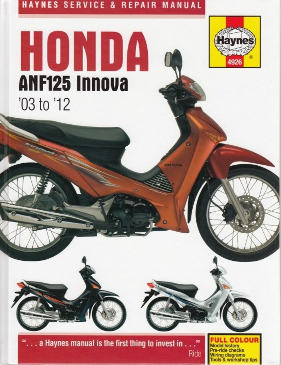 Honda Anf125  Anf125i Innova Scooter 2003