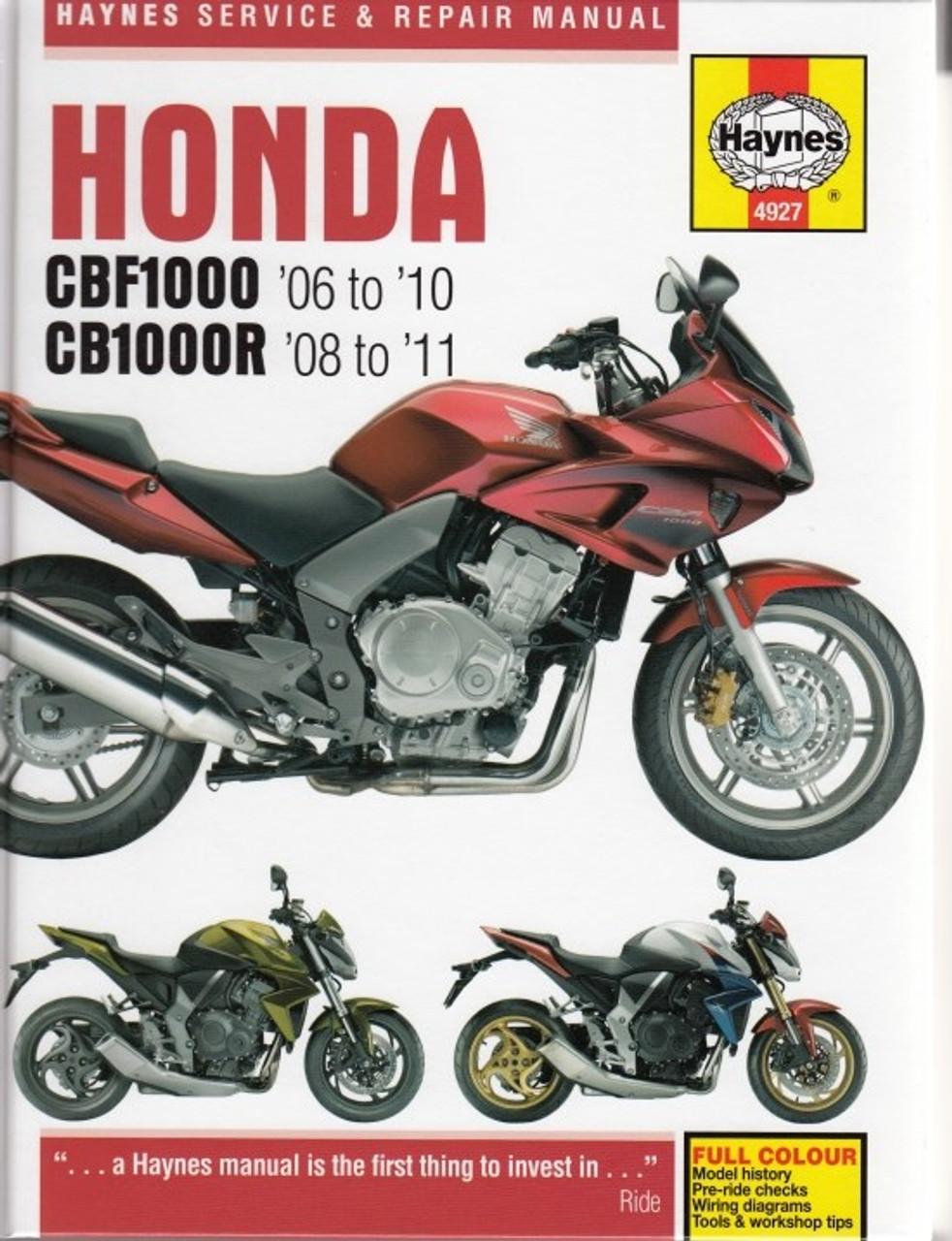 honda cbf1000 cbf1000a cb1000r cb1000ra 2006 2011 workshop manual rh automotobookshop com au 2016 Honda CB1000R Honda CBR1000RR