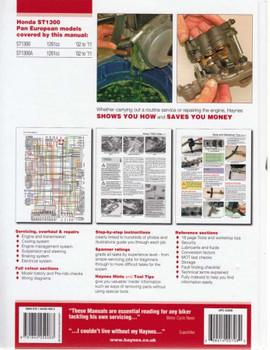 Honda ST1300 Pan European 2002 - 2011 Workshop Manual Back Cover