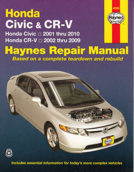 Honda Civic & CR-V 2001 - 2010 Workshop Manual
