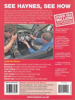 Mazda MX-5 1989 - 2005 Workshop Manual Back Cover