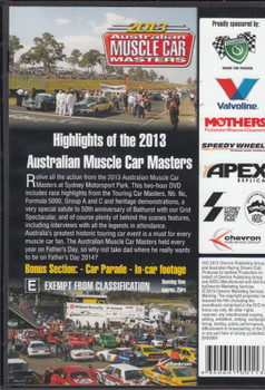 Highlights of the 2013 Australian Muscle Car Masters DVD Back Cover