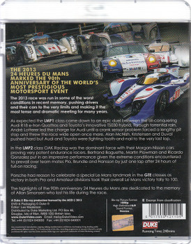 Le Mans 2013 Blu-ray Back