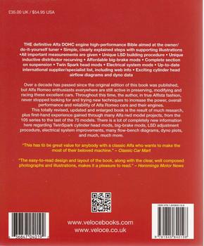 The Alfa Romeo DOHC Engine High-Performance Manual Back Cover