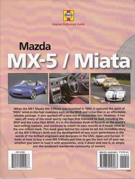 Mazda MX-5 Miata Haynes Enthusiast Guide Back Cover