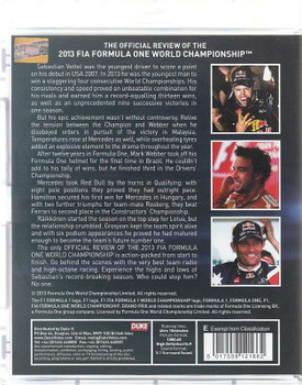 Formula One 2013 The Official Review Blu-ray Back Cover