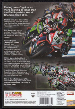 Superbike World Championship 2013 DVD Back Cover