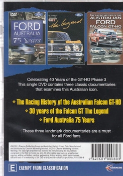 Celebrating 40 Years of the Ford Falcon GT-HO Phase 3 DVD Back
