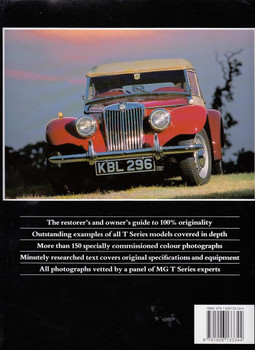 Original MG T Series The Restorer's Guide to MG TA, TB, TC, TD and TF Back