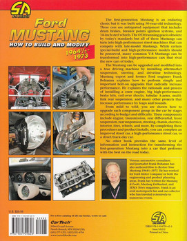 Ford Mustang How to Build and Modify 1964 1/2 - 1973 Back Cover