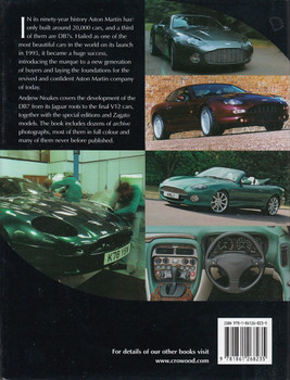 Aston Martin DB7 - The Complete Story Back Cover