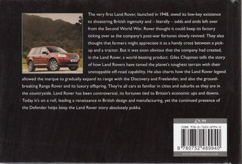 The Land Rover Story Back Cover