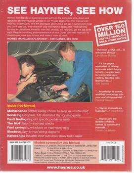 Holden Barina 2000 - 2006 Repair Manual Back Cover