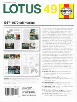 Lotus 49 1967 - 1970 (all marks) Owners' Workshop Manual Back Cover