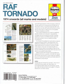 RAF Tornado 1974 onwards (all marks and models) Owners' Workshop Manual Back Cover