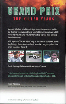 Grand Prix The Killer Years: Extended Interviews from the BBC Film Back Cover