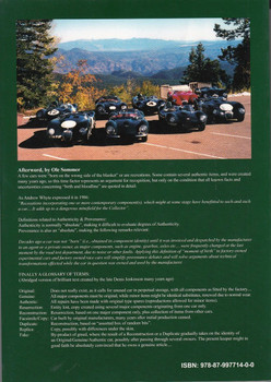 Jaguar C-type, D-type & Lightweight E-type Register Back Cover