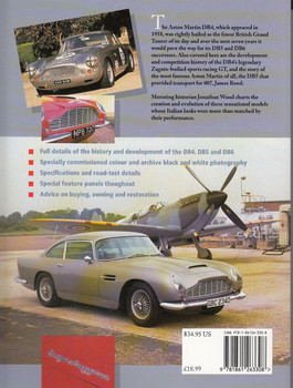 Aston Martin DB4, DB5 & DB6 The Complete Story Back Cover