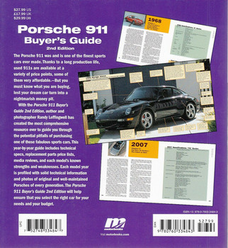 Porsche 911 Buyer's Guide 2nd Edition Back Cover