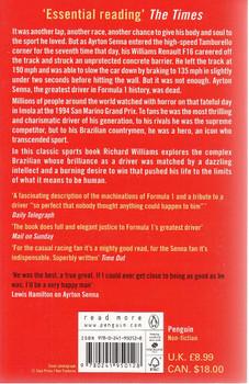 The Death of Ayrton Senna Back Cover