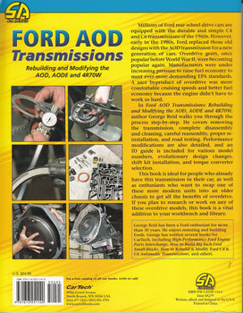 Ford AOD Transmissions: Rebuilding and Modifying the AOD, AODE and 4R70W Back Cover