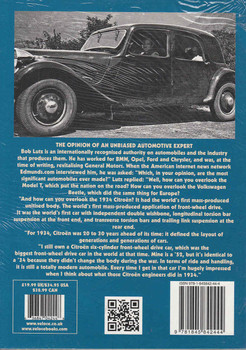 Andre Lefebvre and the cars he created for Voison and Citroen back cover