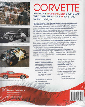 Corvette America's Star-Spangled Sports Car: The Complete History 1953 - 1982 Back Cover
