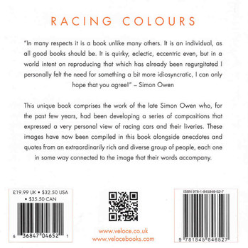 Racing Colours: Motor Racing Compositions 1908 - 2009 back