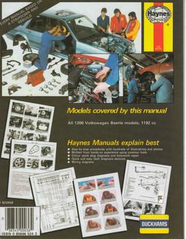 VW Beetle 1200 1954-1977 Owners Workshop Manual Haynes  - back