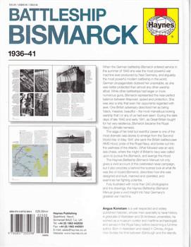 Battleship Bismarck 1936 - 41 Owners' Workshop Manual - back