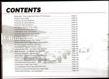 Tasman Cup 1964 - 1975 Contents