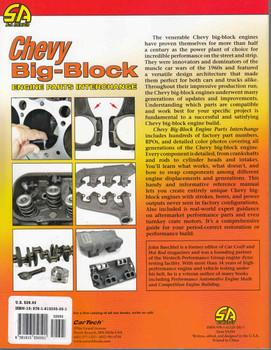 Chevy Big-Block Engine Parts Interchange - All New Edition - back